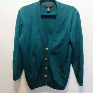 Sweaters - 90s Vintage Oversize Slouchy Wool Cardigan